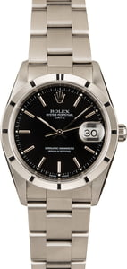 Pre-Owned Rolex Date 15210 Black Index Dial