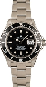 Used Rolex 40MM Submariner 16610 Black Dial