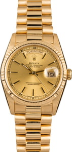 Pre-Owned Rolex President 18238 Champagne Dial Model