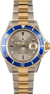 Pre-Owned Rolex Submariner 16613T Serti Dial