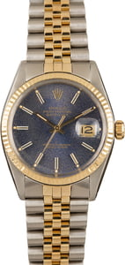 Pre-Owned Rolex Datejust 16013 Blue Index Dial