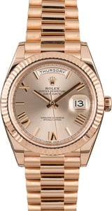 Pre-Owned Rolex President 228235 Everose Gold