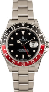 Pre-Owned Rolex 40mm GMT Master II 16710 Black Dial