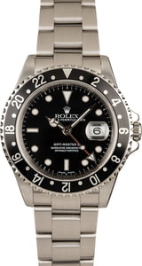 Rolex Black GMT Master II 16710 Red GMT Hand
