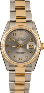 Rolex Datejust 16233 Rhodium Arabic Dial