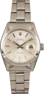Pre-Owned Rolex Oysterdate 6694 Silver Dial Watch