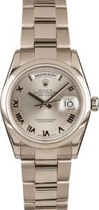Rolex White Gold Presidential Day-Date 118209