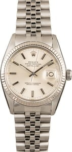 Pre-Owned Rolex Datejust 16014 Silver Index 132646