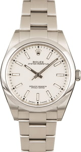 Pre-Owned Rolex Oyster Perpetual 114300 White Dial