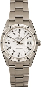 Pre-Owned Rolex Oyster Perpetual Date 15210 White Roman Dial