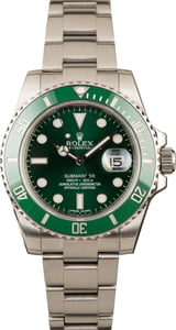 Used Rolex Submariner 116610LV Green Ceramic 'Hulk' Bezel