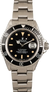 Pre-Owned 40MM Rolex Submariner 16800 Steel