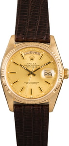 Pre-Owned Rolex Day-Date 18038 Spanish Day Wheel