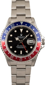 Pre-Owned Rolex 'Pepsi' Insert GMT Master II Ref 16710