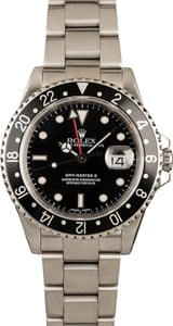 Pre Owned Rolex GMT-Master II 16710 Black Bezel