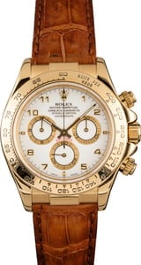 Pre-Owned Rolex Daytona Cosmograph 116518 White Arabic Dial