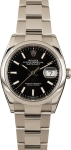 Pre-Owned Rolex Datejust 126200 Black Dial