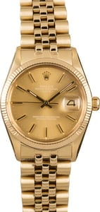 Pre-Owned 34MM Rolex Date 15037 Champagne Dial