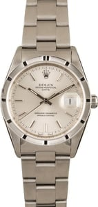 Pre-Owned Rolex Date 15210 Silver Index Dial
