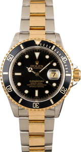 Rolex Submariner 16613 Black Dial Two Tone Bracelet Watch