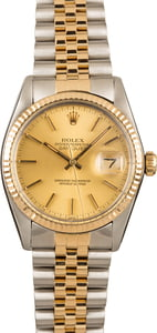 Pre-Owned 36MM Rolex Datejust 16013 Champagne