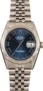 Datejust Rolex 16234 Steel Jubilee Blue Dial