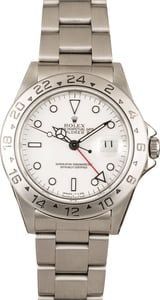 Pre-Owned Rolex Explorer II 16570 White Dial