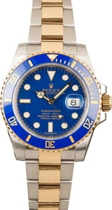 Pre-Owned 40MM Rolex Submariner 116613 Blue Dial