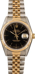 Rolex Datejust 16233 Black 100% Authentic