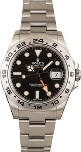 Pre-Owned Rolex Explorer II 216570 Black Dial