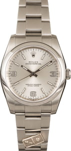 Used Rolex Oyster Perpetual 116000 Silver Arabic Dial