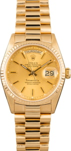 Rolex Day-Date President 18038 Tiffany & Co. Dial