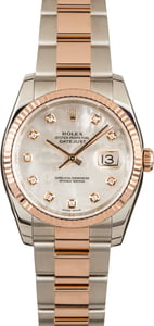 Pre-Owned Rolex Datejust 116231 MOP Diamond Dial