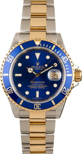 Pre-Owned 40MM Rolex Submariner 16613 Blue Dial