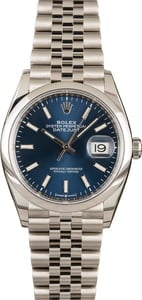 Pre-Owned Rolex Datejust 126200 Blue Dial