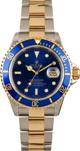 Used Rolex Submariner Steel & Gold Blue Face 16613