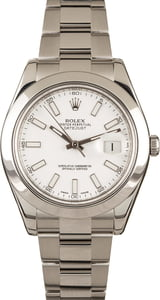 Rolex Datejust II White Dial 116300