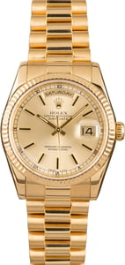Rolex 118238 Day-Date 18k Yellow Gold