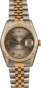 Rolex Datejust 16233 Two Tone with Rhodium Dial