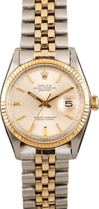 Men's Rolex Datejust 1601 Silver Dial