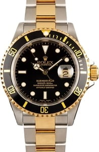 Two Tone Rolex Submariner 16613 Black Dial