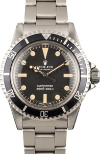 Rolex Submariner 5513 Stainless Steel