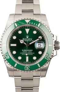 Men's Rolex Submariner 116610LV Green Ceramic Bezel