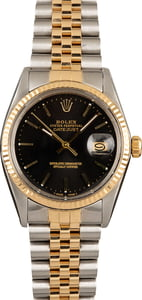 Rolex Black Datejust 16013 36MM