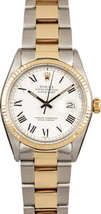 PreOwned Rolex Datejust 16013 White Buckley Dial