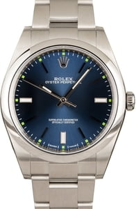 Rolex Oyster Perpetual 114300 Blue Index Dial