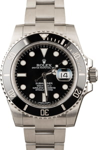 Men's Rolex Submariner Model 116610LN Ceramic Stainless, Pre-Owned