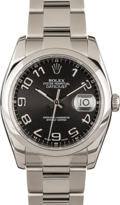 Rolex Datejust 116200 Black Concentric