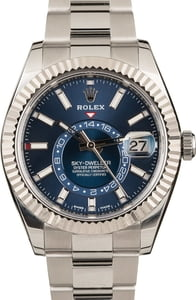 Rolex Steel Sky-Dweller 326934 Blue Index Dial