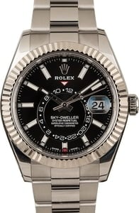 Pre-Owned Rolex Sky-Dweller 326934 Black Dial 42MM